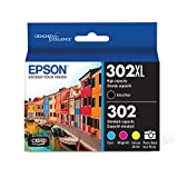 Epson T302XL-BCS Claria Premium Ink Cartridge Multi-pack - High-capacity Black and Standard-capacity Photo Black and Color (CMYPB)