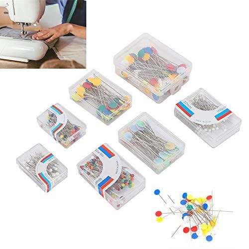 Rehomy 500 agujas de coser hechas a mano, resistentes a altas temperaturas, cabeza de flor de ciruela/cabeza de perla