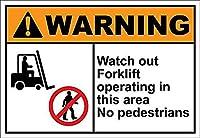 このエリアのフォークリフトオペラを見る 金属板ブリキ看板警告サイン注意サイン表示パネル情報サイン金属安全サイン