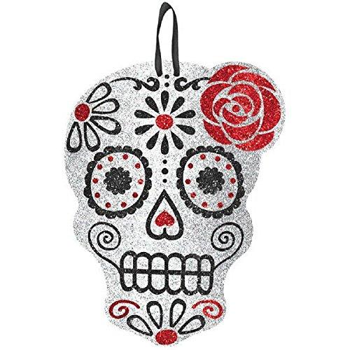 Crâne à Paillettes à Suspendre Day of The Dead