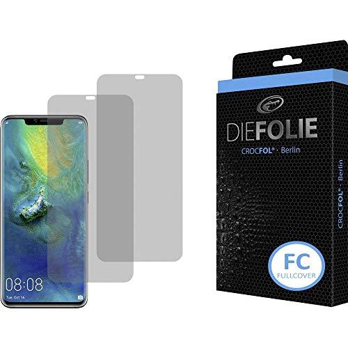 Crocfol Schutzfolie vom Testsieger [2 St.] kompatibel mit Huawei Mate 20 Pro - selbstheilende Premium 5D Langzeit-Panzerfolie inkl. Veredelung - für vorne, ganzes Display