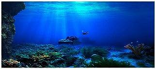 Tło akwarium HD U-Boot Coral Reef fototapeta akwarium ryba morze obraz ścienny XXL U-Boot Underwater świat dekoracja ścien...