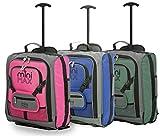 Conjuntos de Maletas MiniMAX para niños y niños Equipaje con Maleta con Mochila y Funda para su muñeca Favorita/Figura de acción/Oso (Azul + Rosa + Verde)