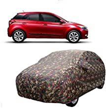 MotRoX Car Body Cover for Hyundai i20 with Side Mirror Pocket (Military Color)