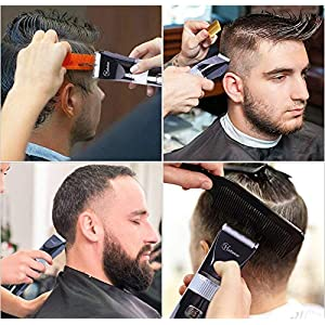 HATTEKER Haarschneider Profi Haarschneidemaschine Herren Haartrimmer Bartschneider Barttrimmer Präzisionstrimmer Langhaarschneider Männer Akku- und Netzbetrieb Wasserdicht