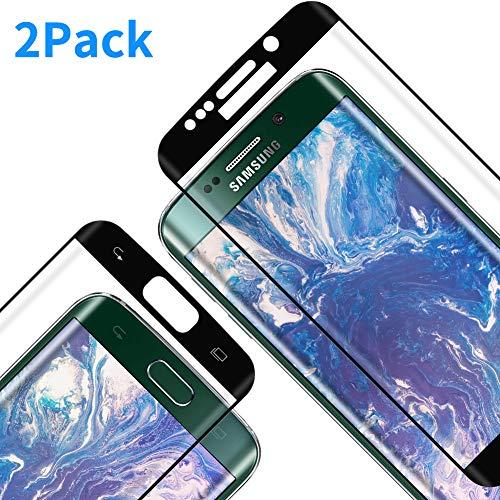 Protector Pantalla para Galaxy S7 Edge, [2 Piezas] Cristal Templado para Galaxy S7 Edge, [3D Cobertura Completa] [9H Dureza] [Resistente a Arañazos] Vidrio Templado para S7 Edge
