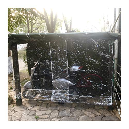 YJFENG Tarea Pesada Impermeable Lona Transparente, Lonas Multiusos, Partición Transparente Exterior, PVC De 0,3 Mm Cortina Impermeable, con Ojales (Color : Claro, Size : 2X3M)