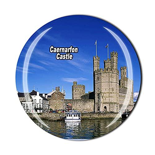 Caernarfon Castle Wales UK - Imán para nevera (cristal, 3D, ideal como regalo de recuerdo)