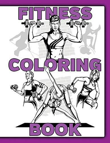 Fitness Coloring Book: For Women With Word Search Puzzles and Fill In Motivational Prompts