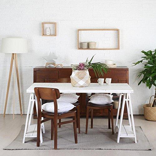 Nordic Tavolo da Pranzo 150 - Legno - 150x90x78 cm - Colore Bianco Snow