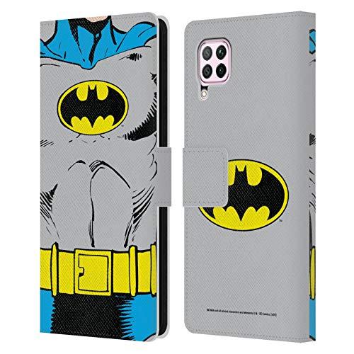 Head Case Designs Oficial Batman DC Comics Disfraz clsico Logotipos Carcasa de Cuero Tipo Libro Compatible con Huawei Nova 6 SE / P40 Lite