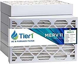 Tier1 Pleated Air Filer - 16x25x4 - MERV 11 - Replacement for Ultra Allergen System Air Filter - Reduces Harmful Airborne Particles for Improved Air Quality - 6 Pack