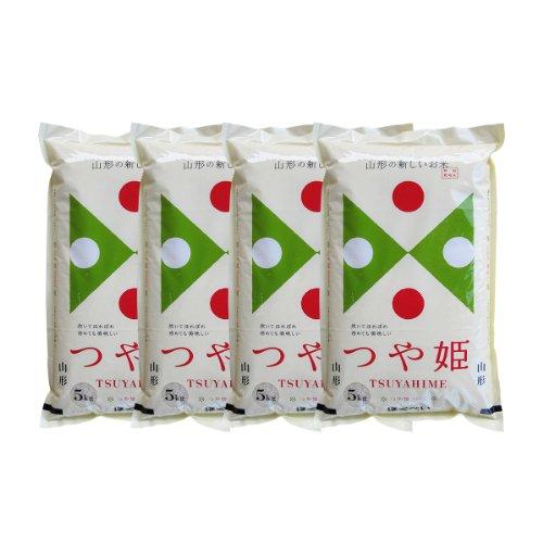 令和元年産 つや姫 20kg 白米 山形県産 特別栽培米 (5kg×4袋) 送料無料