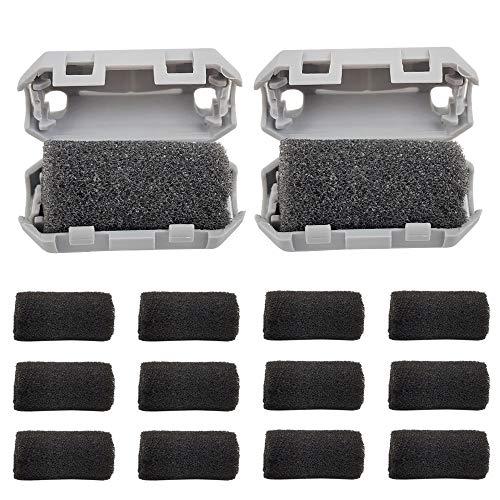 HAWKUNG 16 Pieza Impresora 3D Filtros de Filamento Antiestático de 1.75 mm, 2 Bloque limpiador de Filamentos + 14 Espuma de Goma Resistente, Borrado Polvo para PLA ABS u Otros Filamentos de Impresión