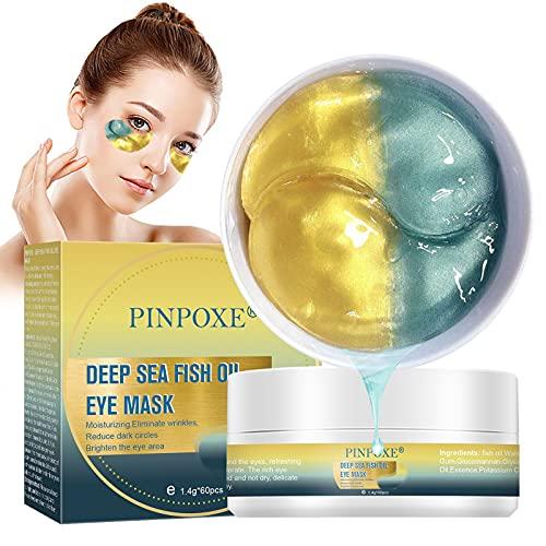 Augenpads,Eye Mask, Augenmaske, Anti-Aging-Film, Augenklappe, Tiefseefischöl, Augenringe, Falten, feine Linien, Tränensäcke, Schwellungen ( 60 Paare)