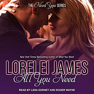 All You Need     Need You Series, Book 3              Written by:                                                                                                                                 Lorelei James                               Narrated by:                                                                                                                                 Lidia Dornet,                                                                                        Roger Wayne                      Length: 10 hrs     Not rated yet     Overall 0.0