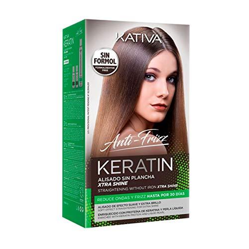 Kativa Keratin Anti Frizz Xtra Shine - Kit Alisado Sin Plancha 270 g