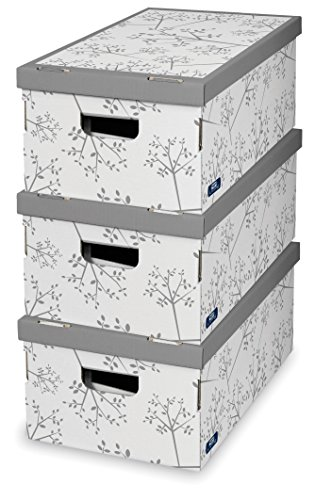 Domopak Living 914575, Set de 3 Cajas de Autoensamblaje Bon Ton, Colores Surtidos