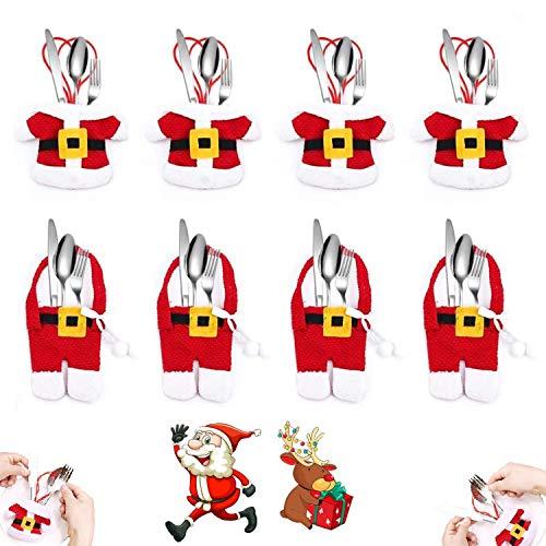 XianJia Bolsita para Cubiertos,Decoracion Navidad, Cubiertos