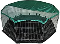 """Assembled octagon of 55"""" x 55"""" / 140cm x 140cm This pack includes a water proof nylon base. Includes free safety net. ideal for indoors and out. Suitable for rabbits / guineas / tortoise / poultry Manufactured by bunny business ( registered trademark..."""