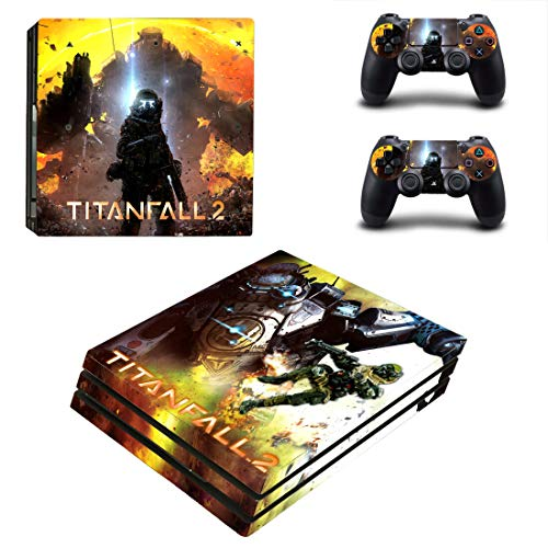 Titanfall Ps4 Pro Sticker, Full Body Vinyl Skin Decal Cover for Playstation 4 Console Controller Remake