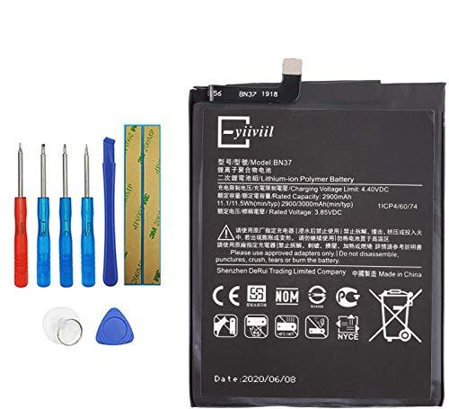 E-YIIVIIL BN37 Batería de repuesto compatible con Xiaomi Mi Redmi6 Redmi 6 Redmi 6A con kit de herramientas