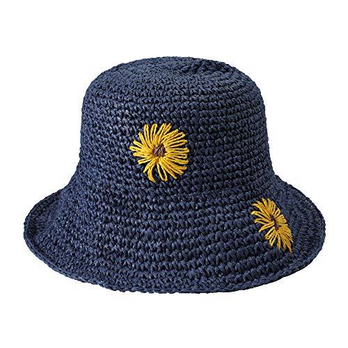 Mujer Sombrero de Paja Verano Plegable Pamelas de Playa Sombrero de Sol