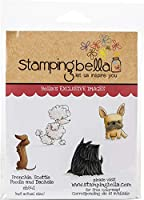 Stamping Bella Cling Stamps-Frenchie, Scottie, Poodle & Dachsie