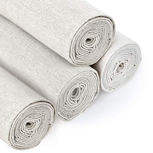 4 Pieces Natural Linen Needlewor...