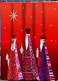 Carnation Home Fashions Duschvorhang aus Stoff Three Kings