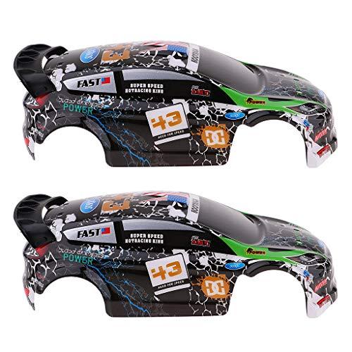 F Fityle 2X 1:28 Carcasa de Carrocería de Coche de Carreras Toldo para K989 Rally Accesorio de Bricolaje