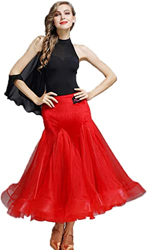 CPDZ Prom Ballroom Danse Robes Danse Moderne Lisse Valse Tango Parti Latin Swing Concours Dancewear Justaucorps vêtements et Accessoires pour Les Femmes,XXL
