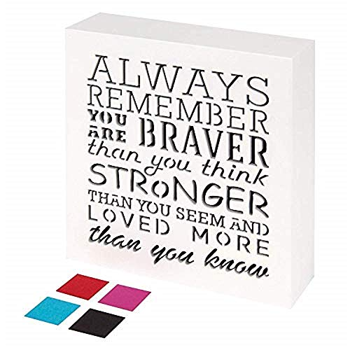 Wall Plaque Pallet - Always Remember You are Braver Than You Think (5.5 x 5.5 Inch)