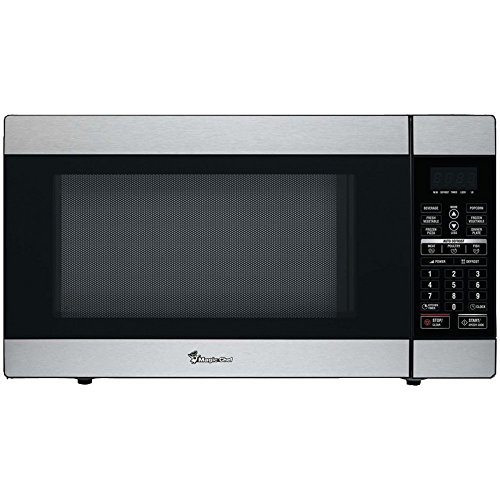 Magic Chef 1.8-Cu. Ft. 1100W Countertop Microwave Oven in Stainless Steel