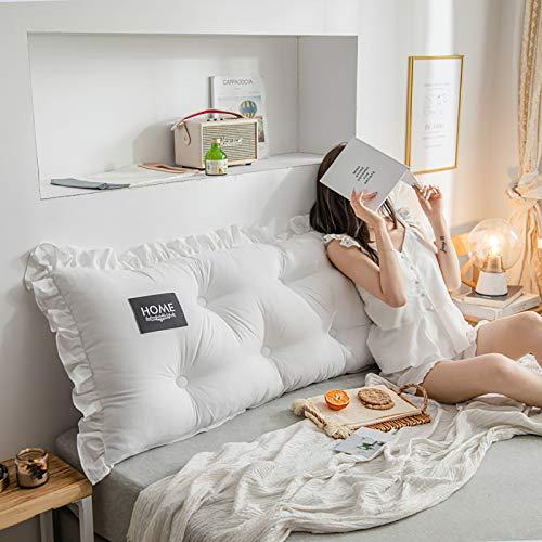 El cojín de algodón lavado de cabecera está diseñado ergonómicamente para aliviar la fatiga de la columna vertebral, apto para todo tipo de personas sedentarias, 3.200 x 55 x 15 cm