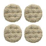Wyxy Cojín de 4 Piezas, cojín de Mimbre Desmontable para Silla Cojín de Asiento para Interior y Exterior con Cremallera Cojín Suave de Rayas Redondas para Silla de Oficina Cojín para Coche-k 50x1
