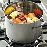 HOMI CHEF LARGE HEAVY ECOLOGICAL NICKEL FREE Stainless Steel Stock Pot 8qt w/Lid (No Toxic Non Stick...