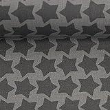 Beschichtete Baumwolle Farbenmix Staaars grau/dunkelgrau  