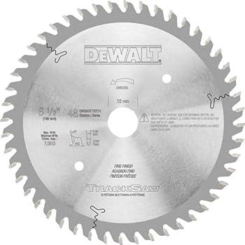 DEWALT Tracksaw Blade Ultra Fine Finishing 48-Tooth 6-1/2-Inch  DW5258   Silver