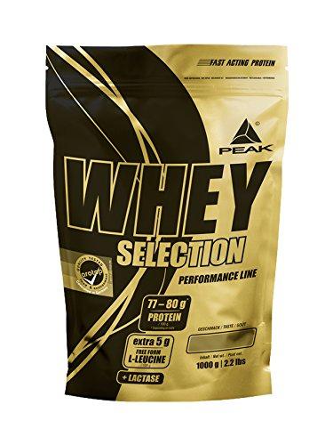 PEAK Whey Selection 1000g| über 40{869b31a0c8d1f4efcb2ea3d08dbf9d112d633c01e10234c9696312e588527957} Isolatanteil | Premium Molkenprotein mit L-Leucin | (Chocolate)