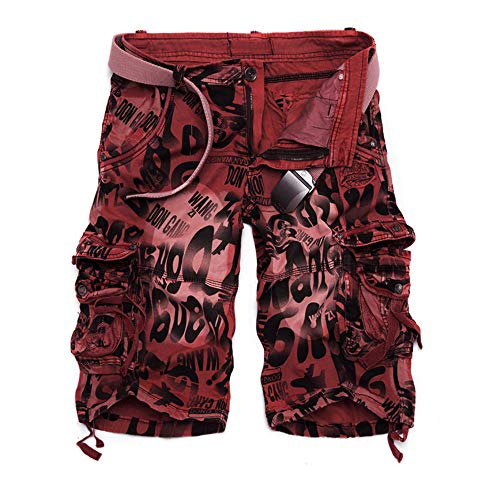 Vertvie heren Cargo Shorts Vintage korte broek Bermuda veldbroek werkbroek camouflage multitassen katoen zomer