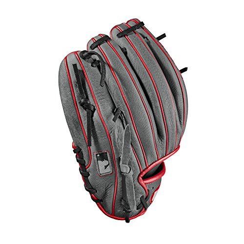 Wilson WTA10RB181786 2018 A1000 Gloves - Right Hand Throw Gray/Red, 11.5""