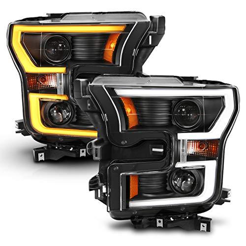 AnzoUSA 111357 Ford F-150 Projector Headlight w/LED Light Bar
