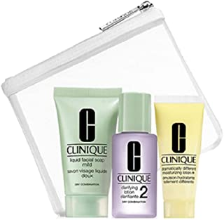 Clinique Skincare 3 Piece Travel Set Normal to Dry