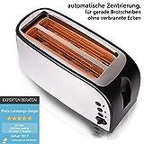 TZS First Austria – gebürsteter Edelstahl 4 Scheiben Toaster 1500W mit Krümelschublade Sandwich Langschlitz | abnehmbarer Brötchenaufsatz | wärmeisoliertes Gehäuse, stufenlose Temperatureinstellung - 6