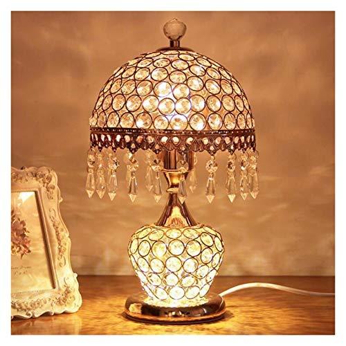 Yanqhua Lámpara de Mesa Nuevo LED K9 Lámpara de Mesa de Cristal LED iluminación Lámparas de Escritorio de Hierro Lámparas LED E27 LED LIG LUZ LUZ DE LUZ LÁMPARA (Body Color : Red)