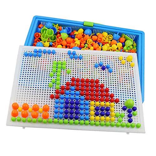 Tubayia Pilz Nagel Puzzle Mosaik Steckspiel Steckmosaik Pädagogisches Spielzeug für Kinder