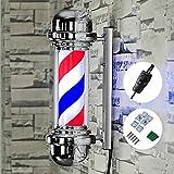 GYL SALON POLE 20'' LED Poste de barbero,Peluquería Luces publicitarias Luces LED giratorias Salón de Belleza Luces de...