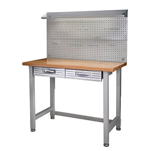 Seville Classics (UHD20247B) UltraHD Lighted Workbench (48L x 24W x 65.5H...