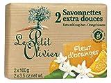 Le Petit Olivier Seife mit Orangenblüten und Olivenöl 2 x 100 Gramm aus Frankreich